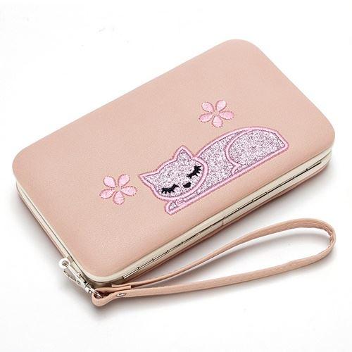 JTF2312-pink Dompet Panjang Wanita Fashion Elegan