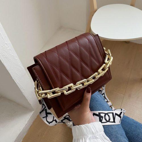 JTF2327-brown Tas Selempang Cantik Wanita Elegan Import