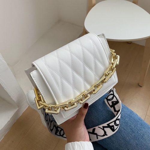 JTF2327-white Tas Selempang Cantik Wanita Elegan Import