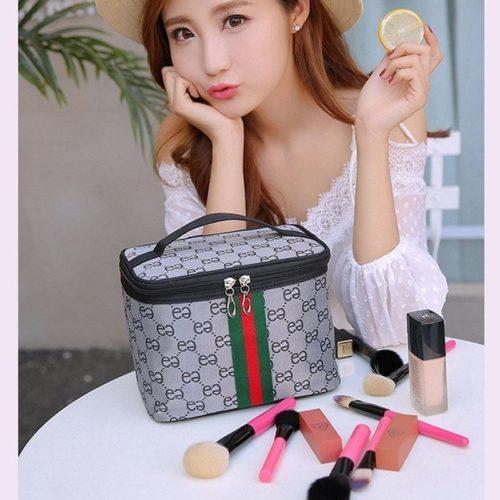 JTF2353-silver Tas Kosmetik Import Import Wanita Cantik