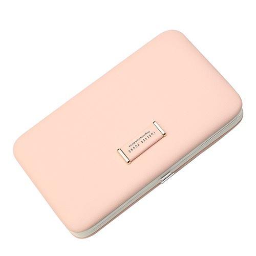 JTF2366-pink Dompet Kotak Fashion Elegan Wanita