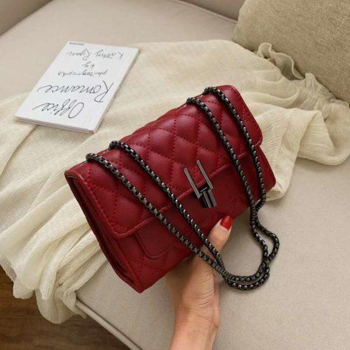 JTF2644-red Tas Clutch Selempang Wanita Import Terbaru