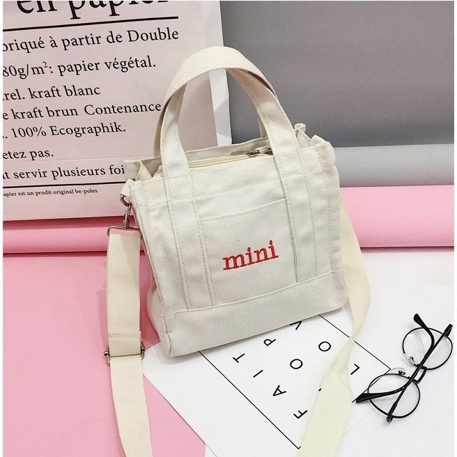 JTF29871 IDR.35.000 MATERIAL CANVAS SIZE L22XH19XW8CM WEIGHT 200GR COLOR WHITE