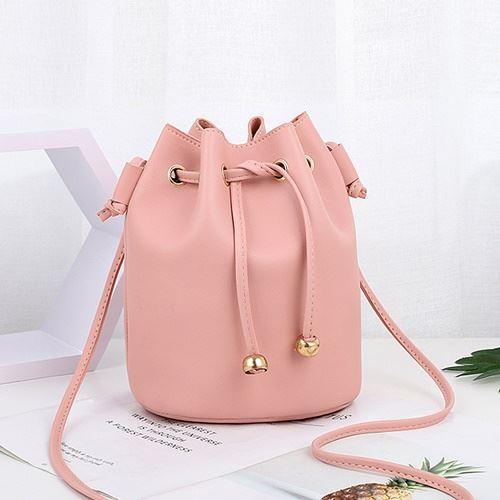 JTF2990-pink Tas Selempang Serut Import Wanita Cantik
