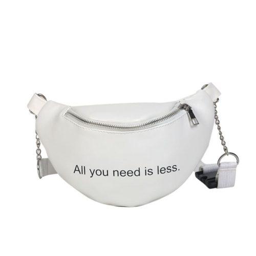 JTF304-white Waist Bag Wanita Kekinian Modis Import