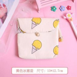 JTF3119-icecream Pouch Dompet Koin Imut Import