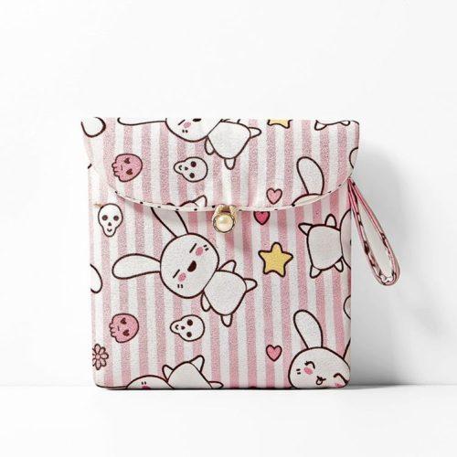 JTF3119-pinkbunny Pouch Dompet Koin Imut Import