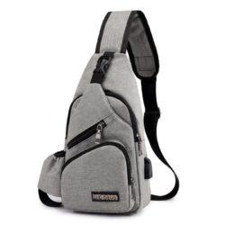 JTF322-gray Tas Crossbody Trendy Terbaru Import