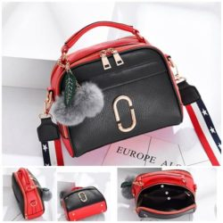 JTF3281-black Tas Selempang Pom Pom Wanita Cantik Import