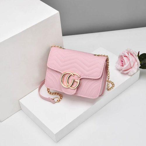 JTF33235-pink Tas Selempang Clutch Wanita Cantik Terbaru