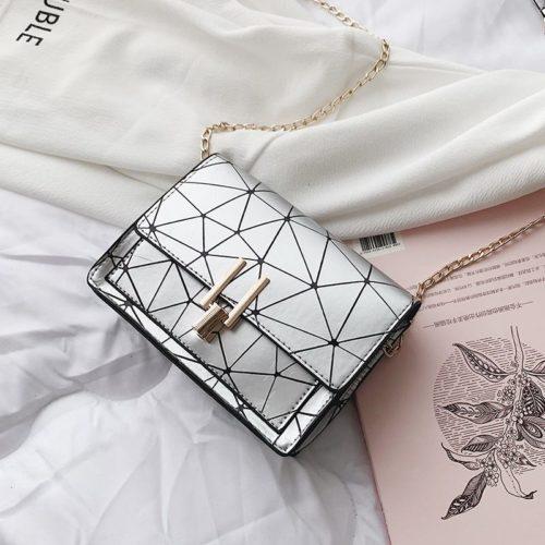 JTF3368-silver Sling Bag Modis Tali Rantai Terbaru