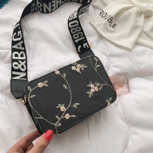 JTF3372-black Tas Selempang Fashion Modis Kekinian