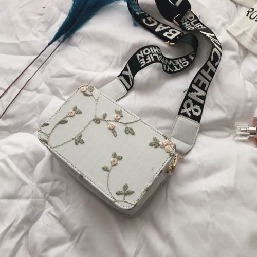 JTF3372-white Tas Selempang Fashion Modis Kekinian