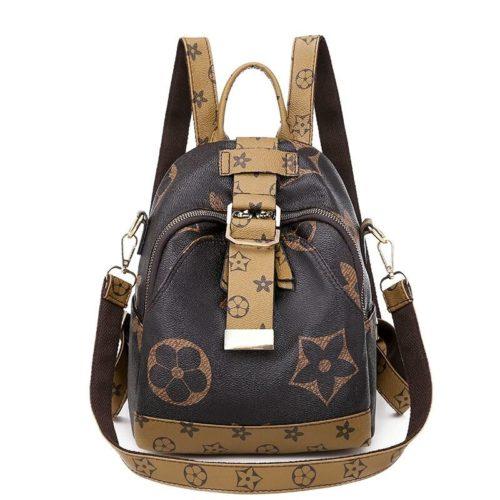JTF34449-brown Tas Ransel Fashion Stylish Wanita Cantik Terbaru