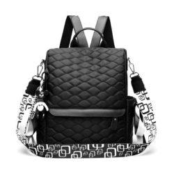 JTF34460-black Tas Ransel Import Wanita Cantik Terbaru