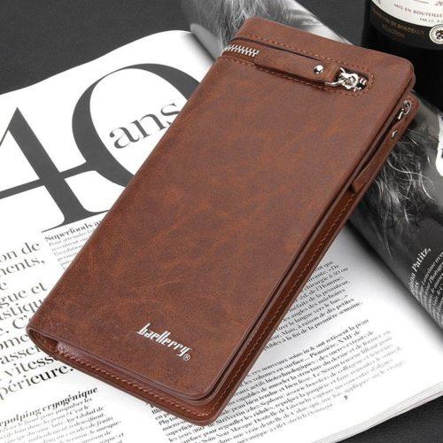 JTF357-brown Dompet Panjang Baellerry Pria Keren Terbaru