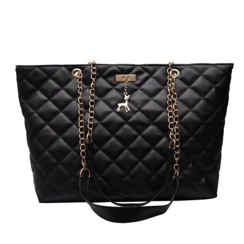 JTF368171-black Tas Selempang Besar Fashion Wanita Cantik Import