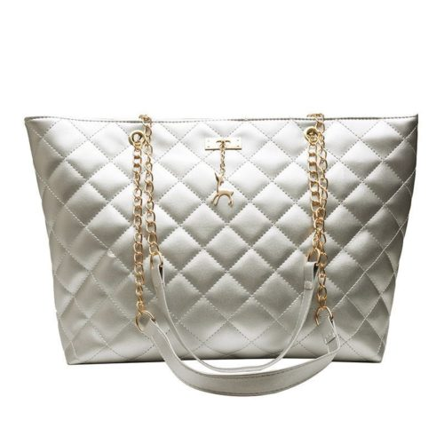 JTF368171-silver Tas Selempang Besar Fashion Wanita Cantik Import