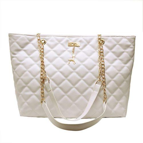 JTF368171-white Tas Selempang Besar Fashion Wanita Cantik Import