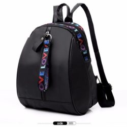 JTF377-black Tas Ransel Stylish Gantungan Love Import