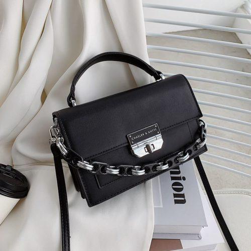JTF3780-black Tas Handbag Selempang Import Wanita Elegan
