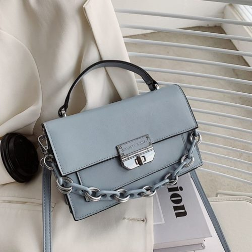 JTF3780-blue Tas Handbag Selempang Import Wanita Elegan