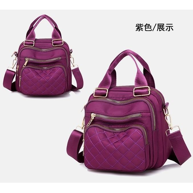 JTF457 IDR.59.000 MATERIAL OXFORD SIZE L23.5XH21XW15CM WEIGHT 500GR COLOR PURPLE