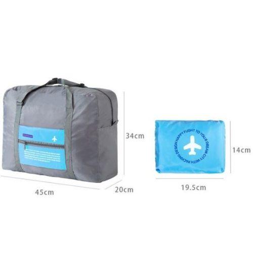 JTF5003-blue Folding Bag Serbaguna Bisa Dilipat