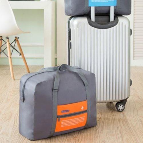 JTF5003-orange Folding Bag Serbaguna Bisa Dilipat