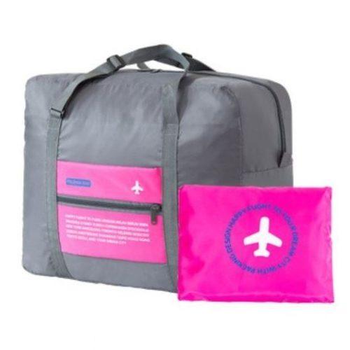 JTF5003-rose Folding Bag Serbaguna Bisa Dilipat