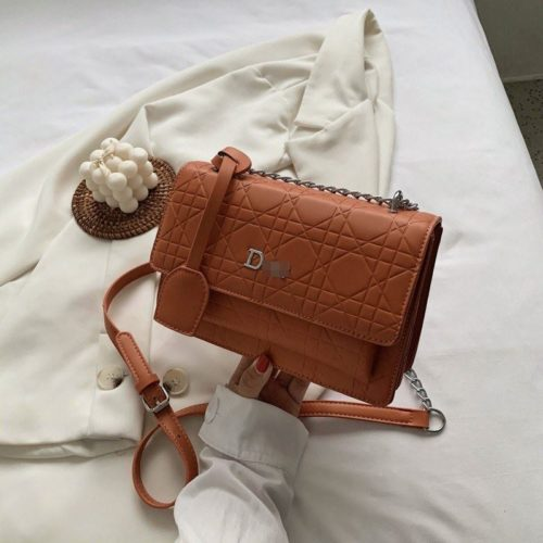 JTF5043-brown Tas Selempang Elegan Wanita Cantik Terbaru