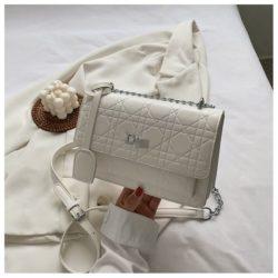 JTF5043-white Tas Selempang Elegan Wanita Cantik Terbaru
