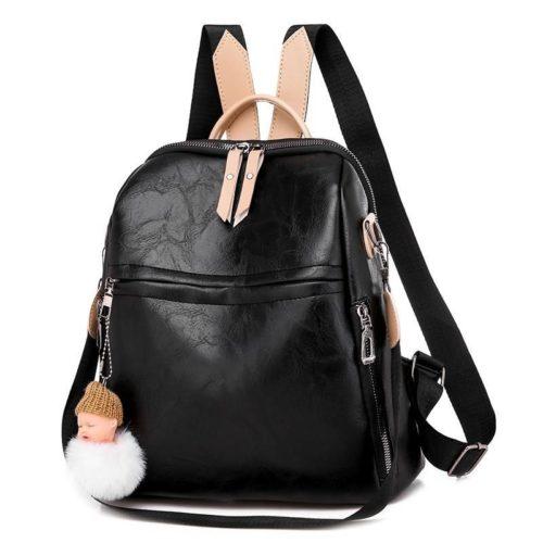 JTF507-black Tas Ransel Import Wanita Cantik Gantungan Baby