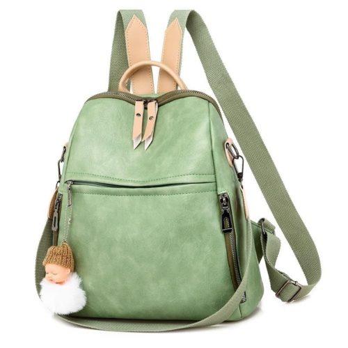 JTF507-green Tas Ransel Import Wanita Cantik Gantungan Baby