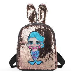 JTF550-gold Tas Ransel Sequin Anak LED Lucu Import