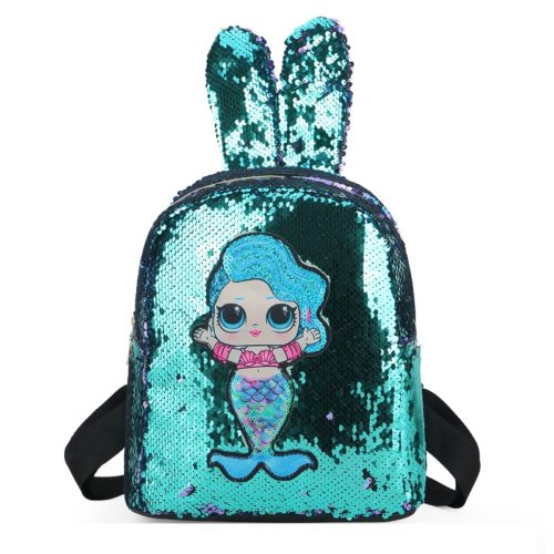 JTF550-green Tas Ransel Sequin Anak LED Lucu Import