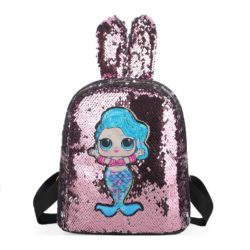JTF550-pink Tas Ransel Sequin Anak LED Lucu Import