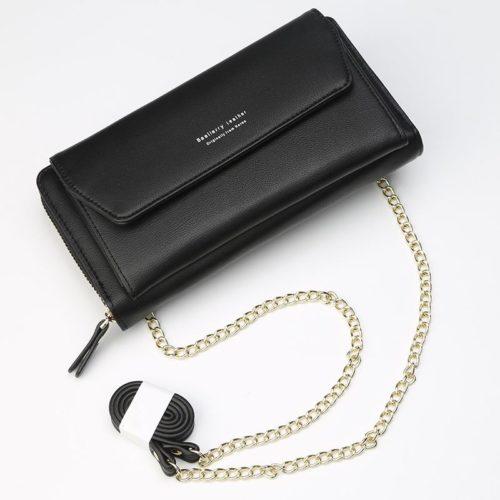 JTF5509A-black Clutch Bag Selempang Modis Kekinian