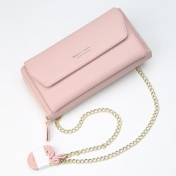 JTF5509A-lightpink Clutch Bag Selempang Modis Kekinian