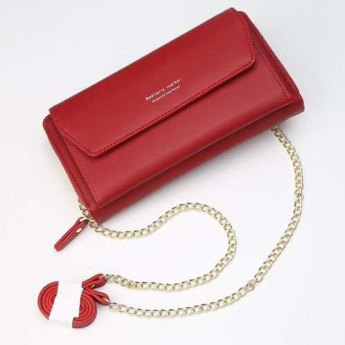 JTF5509A-red Clutch Bag Selempang Modis Kekinian