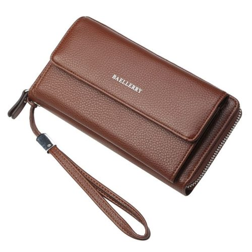 JTF5515-brown Dompet Kulit Baellery Keren Import Terbaru