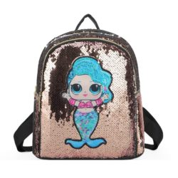 JTF559-gold Tas Ransel Sequin Anak LED Lucu Import