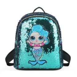JTF559-green Tas Ransel Sequin Anak LED Lucu Import