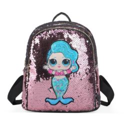 JTF559-pink Tas Ransel Sequin Anak LED Lucu Import