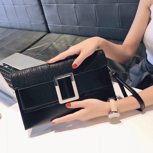 JTF5869-black Dompet Clutch Wanita Cantik Elegan