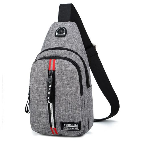 JTF5893-gray Waist Bag Pria Kekinian Keren Import