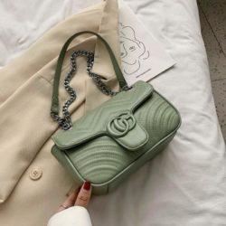 JTF6045-green Tas Clutch Selempang Wanita Cantik Import