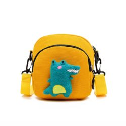 JTF644-yellow Tas Selempang Stylish Motif Dinosaur Import