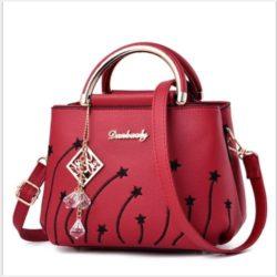 JTF6512-red Tas Selempang Wanita Cantik Import