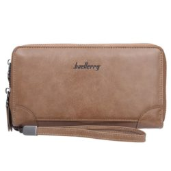 JTF6702-khaki Dompet Tangan Clutch Pria BAELLERRY Terbaru